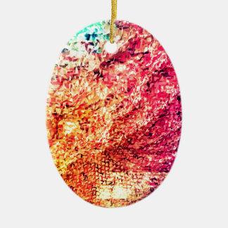 Ornamento De Cerâmica Para o amor da cor - caleidoscópio