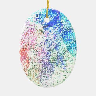 Ornamento De Cerâmica Para o amor da cor - Pastel do caleidoscópio