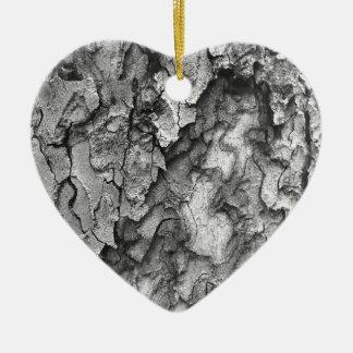 Ornamento De Cerâmica Para o amor da natureza - latido do preto & do