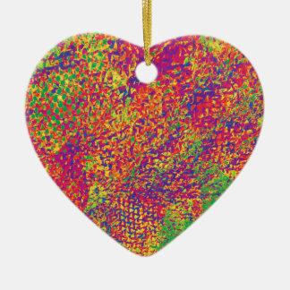 Ornamento De Cerâmica Para o amor das cores - Psychadelic
