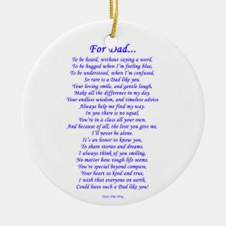 Ornamento De Cerâmica Para o pai