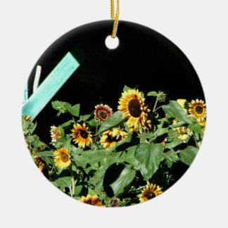 Ornamento De Cerâmica Parada do girassol