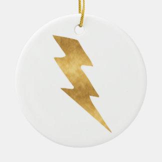 Ornamento De Cerâmica Parafuso de relâmpago no ouro metálico
