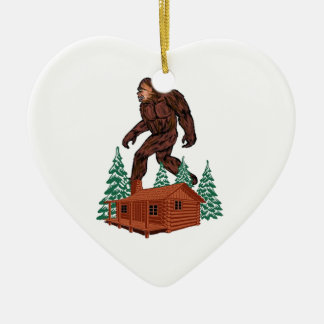 Ornamento De Cerâmica Paraíso de Bigfoot
