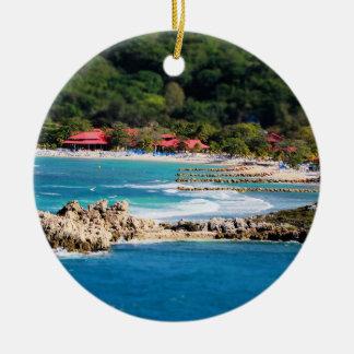 Ornamento De Cerâmica Paraíso tranquilo Labadee Haiti da ilha