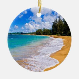 Ornamento De Cerâmica Paraíso tropical da praia, Havaí