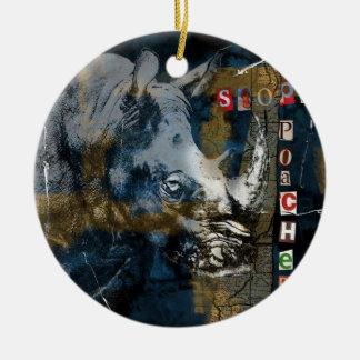 Ornamento De Cerâmica Pare a arte da conservação dos animais selvagens