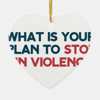 Ornamento De Cerâmica Pare a violência armada