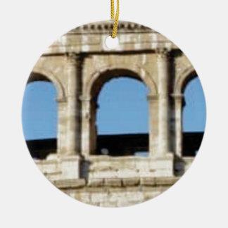 Ornamento De Cerâmica parede de três arcos
