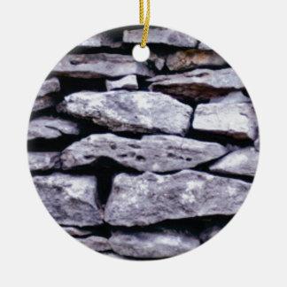 Ornamento De Cerâmica parede empilhada da rocha