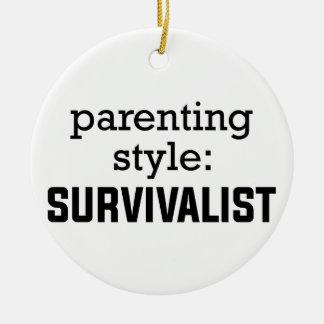 Ornamento De Cerâmica Parentalidade do Survivalist