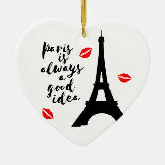 Ornamento De Cerâmica Paris
