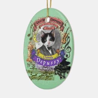 Ornamento De Cerâmica Paródia animal de Debussy do compositor do gato de