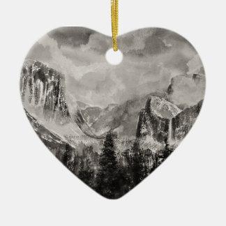 Ornamento De Cerâmica Parque de Yosemite no inverno