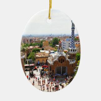 Ornamento De Cerâmica Parque Guell em Barcelona, espanha