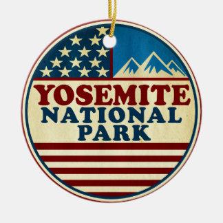 Ornamento De Cerâmica Parque nacional Califórnia de Yosemite patriótica