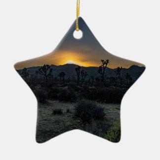 Ornamento De Cerâmica Parque nacional de árvore de Joshua do nascer do