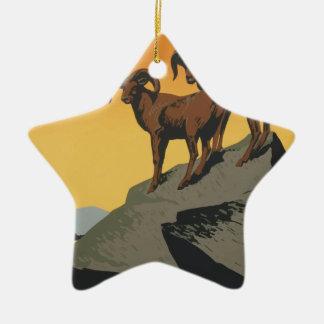 Ornamento De Cerâmica Parques nacionais América EUA do poster das