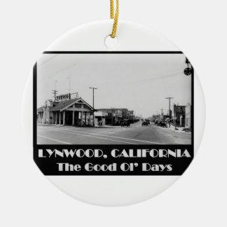 Ornamento De Cerâmica Parte traseira de Lynwood Califórnia quando