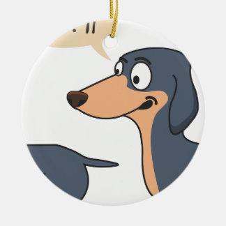 Ornamento De Cerâmica parte traseira do cão