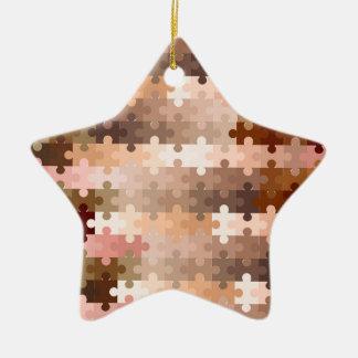 Ornamento De Cerâmica Partes da serra de vaivém do tom de pele