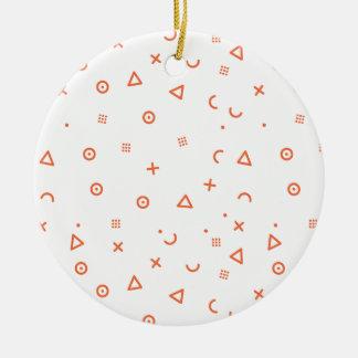 Ornamento De Cerâmica Partículas felizes