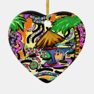 Ornamento De Cerâmica Partido da praia
