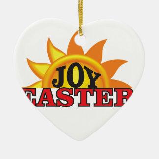 Ornamento De Cerâmica páscoa do vermelho da alegria