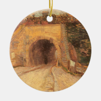 Ornamento De Cerâmica Passagem subterrânea da estrada, viaduto por