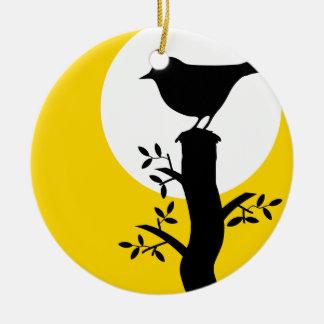 Ornamento De Cerâmica Pássaro