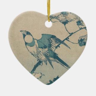 Ornamento De Cerâmica Pássaro azul