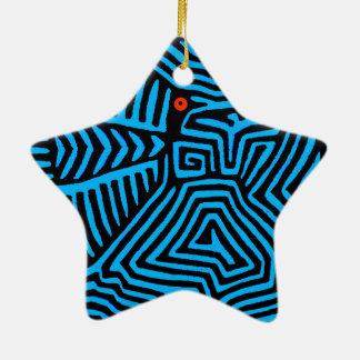 Ornamento De Cerâmica Pássaro azul indiano de Kuna