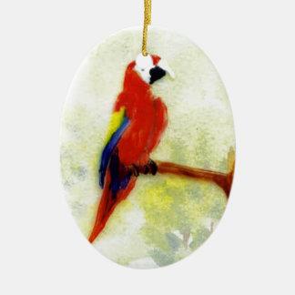 Ornamento De Cerâmica Pássaro colorido do Macaw