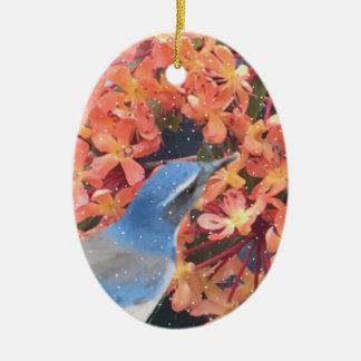 Ornamento De Cerâmica Pássaro da neve