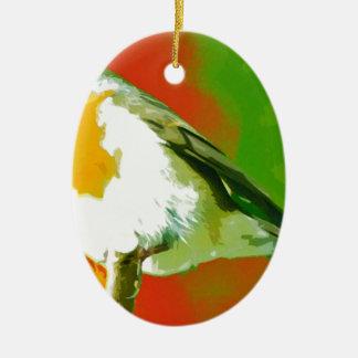 Ornamento De Cerâmica Pássaro do pisco de peito vermelho