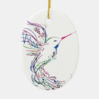 Ornamento De Cerâmica Pássaro do zumbido