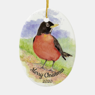 Ornamento De Cerâmica Pássaro feito sob encomenda do pisco de peito