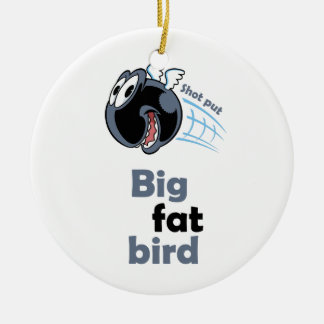 Ornamento De Cerâmica Pássaro psto tiro gordo grande