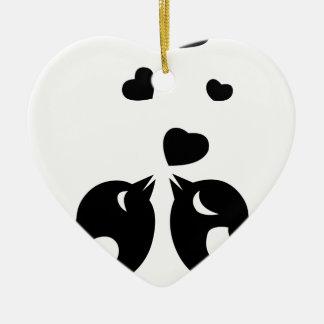 Ornamento De Cerâmica Pássaros do amor