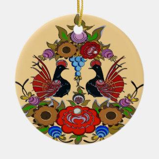 Ornamento De Cerâmica Pássaros felizes do feriado, Escandinávia
