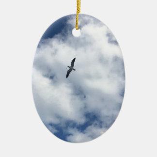 Ornamento De Cerâmica Pássaros nas nuvens