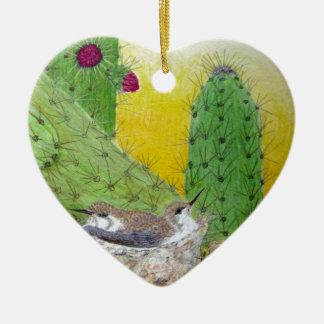 Ornamento De Cerâmica Pássaros no deserto