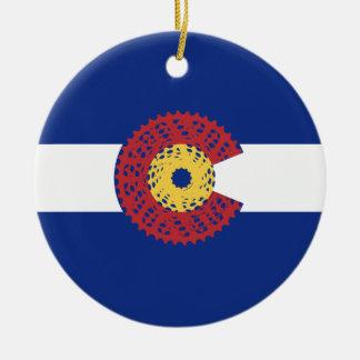 Ornamento De Cerâmica Passeio Colorado (gaveta da bicicleta)