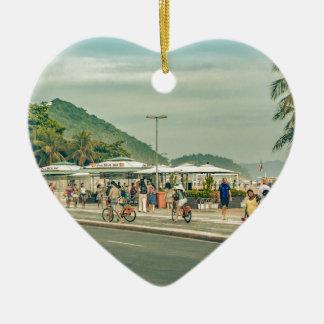 Ornamento De Cerâmica Passeio Rio de Janeiro Brasil de Copacabana