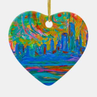 Ornamento De Cerâmica Passeio selvagem de Chicago