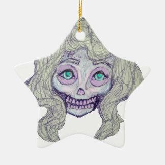 Ornamento De Cerâmica pastel do açúcar do crânio - her26-