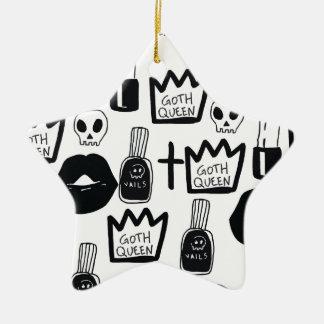 Ornamento De Cerâmica pastel goth, queen, horror, terror, gothic, femini