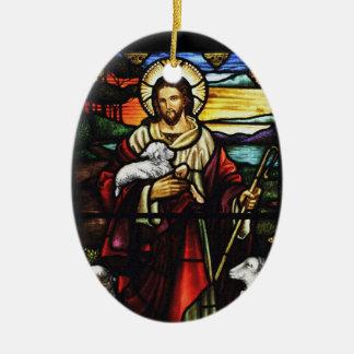 Ornamento De Cerâmica Pastor e seus carneiros StJohnsAshfiel
