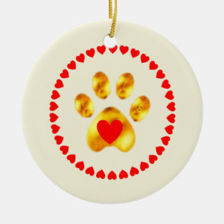 Ornamento De Cerâmica Pata bonito e elegante do ouro