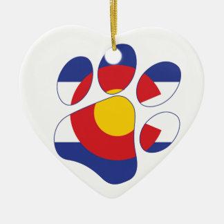 Ornamento De Cerâmica Pata do animal de estimação de Colorado